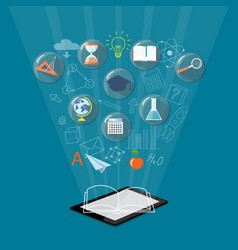 banner for on line education e-book vector image