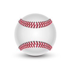baseball ball with shade softball or hardball vector image