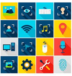big data ai colorful icons vector image