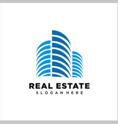 building - logo real estate vector image