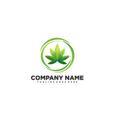 cannabis concept design template vector image