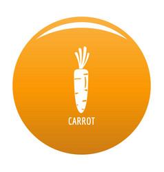 carrot icon orange vector image
