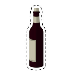 cartoon glass bottle wine liquor vector image