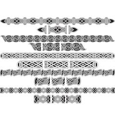 Celtic patterns for design vector