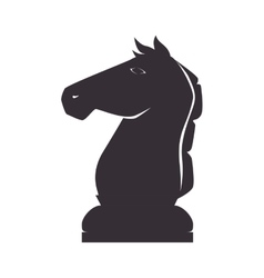 Chess piece knight vector