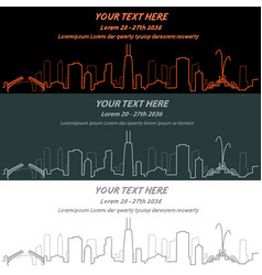 Chicago event banner hand drawn skyline vector