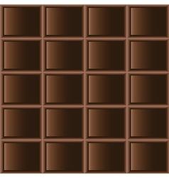 Chocolate dark tiles seamless texture vector image