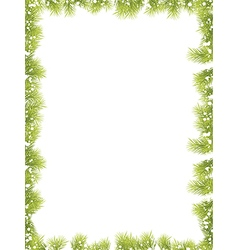 Christmas Fir Tree Border vector image