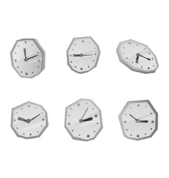 Clock face watch vector