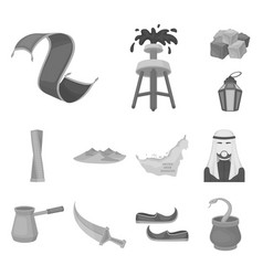 country united arab emirates monochrome icons in vector image
