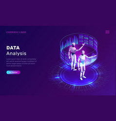 data analysis artificial intelligence isometric vector image