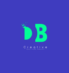 Db letter logo design with negative space concept vector