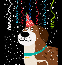 dog party background vector image