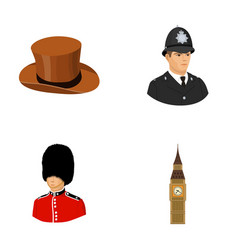 England gentleman hat officer england country vector