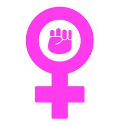 Feminism symbol flat icon vector