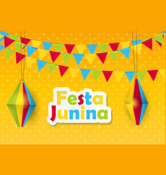 Festa junina background brazil june festival vector