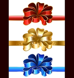festive bow vector image