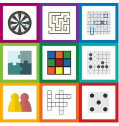Flat icon entertainment set arrow backgammon vector
