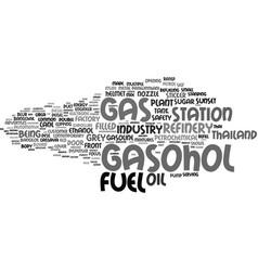 Gasohol word cloud concept vector