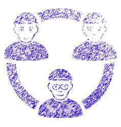geek collaboration network icon grunge watermark vector image