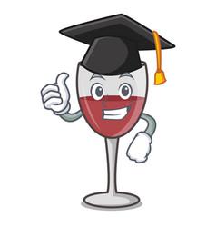 Graduation wine character cartoon style vector