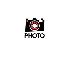 Graphic symbol of a camera vector image
