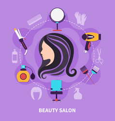 hairdresser colored composition vector image
