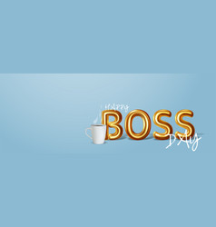 Happy boss day vector