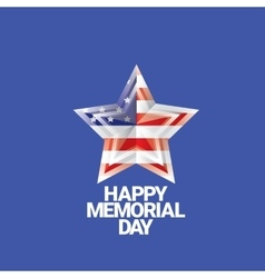Happy Memorial Day banner memorial day card vector image