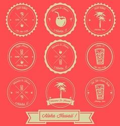 Hawaii Holiday Vintage Label Design vector image