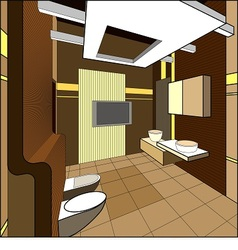 Interior of bathroom vector