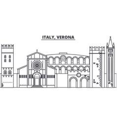italy verona line skyline vector image