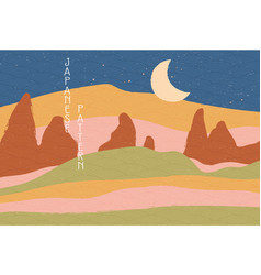 japanese background concept vector image