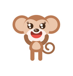 Kawaii monkey animal toy vector