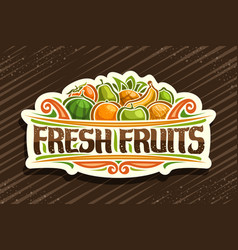 logo for fresh fruits vector image