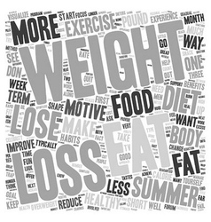Lose Weight For The Summer text background vector image