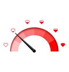 Love meter heart indicator love day full test vector