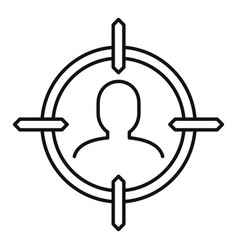 Man recruitment target icon outline style vector