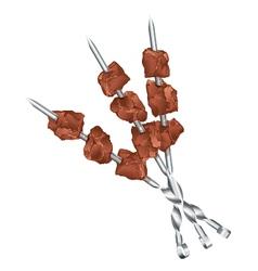 Meats on skewers vector