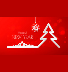 merry christmas greeting card or flyer design vector image