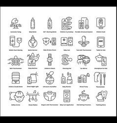modern equipment for child vector image