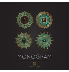 Modern monogram logo template vector