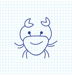 Of zoology symbol on crab vector
