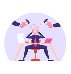 Office worker frustration career burnout vector