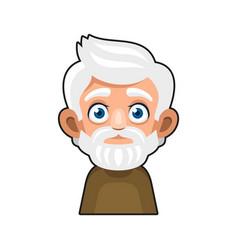 Old man cartoon icon cute avatar vector