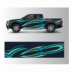pickup truck graphic abstract shape with grunge vector image