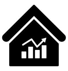 Realty Charts Flat Icon vector
