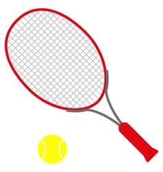 Red tennis racket vector