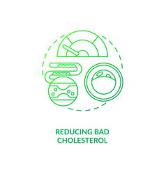 Reducing bad cholesterol dark green concept icon vector