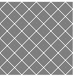 Repeating black and white square pattern vector